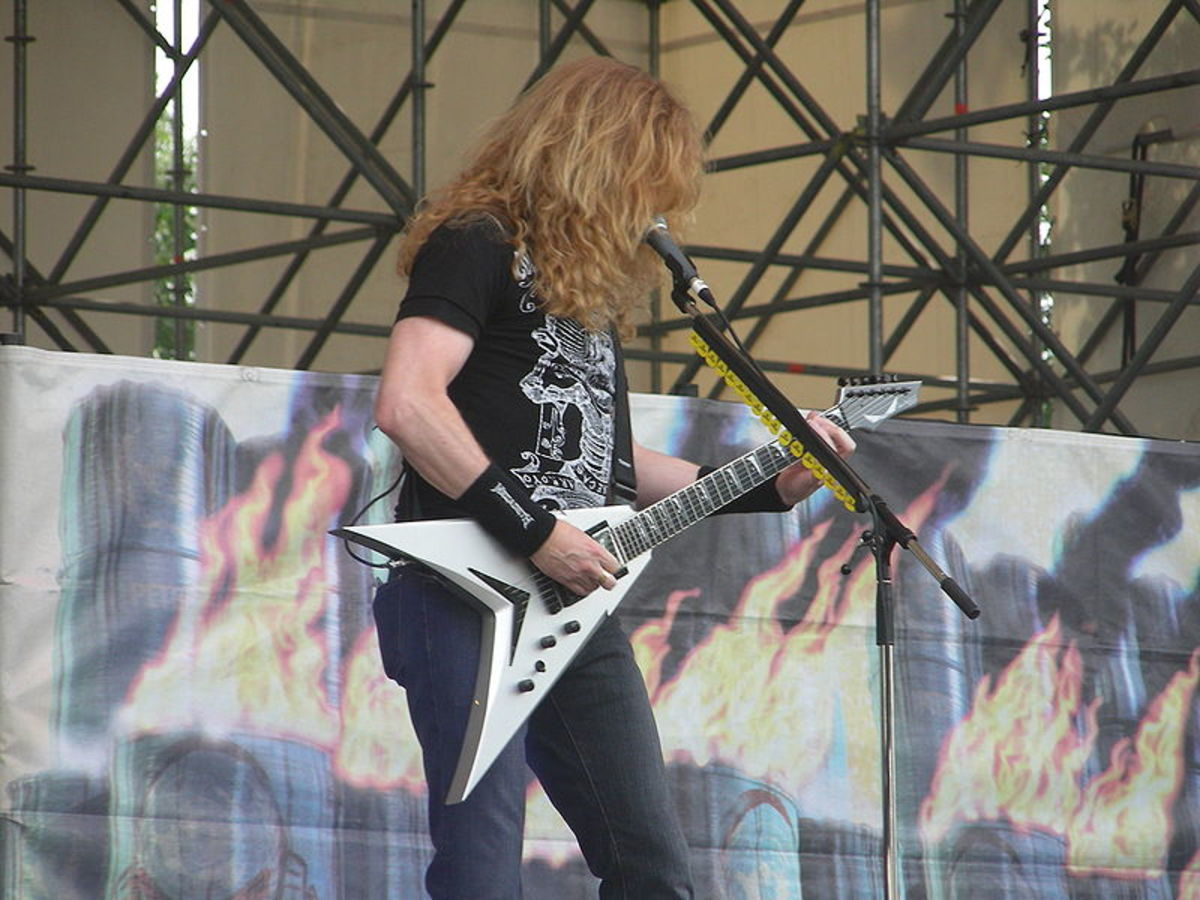 Dave Mustaine of Megadeth - One of the best rhythm players in metal, but also capable of face-melting guitar solos.