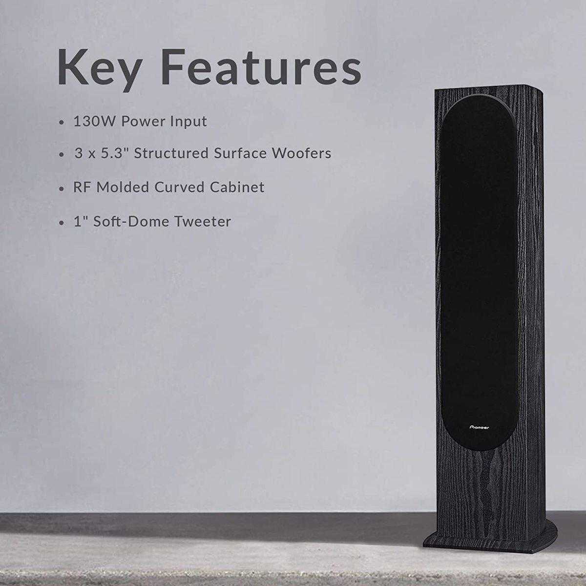 The Pioneer SP-FS52 Home Audio Andrew Jones Designed Floor Standing Loudspeaker.
