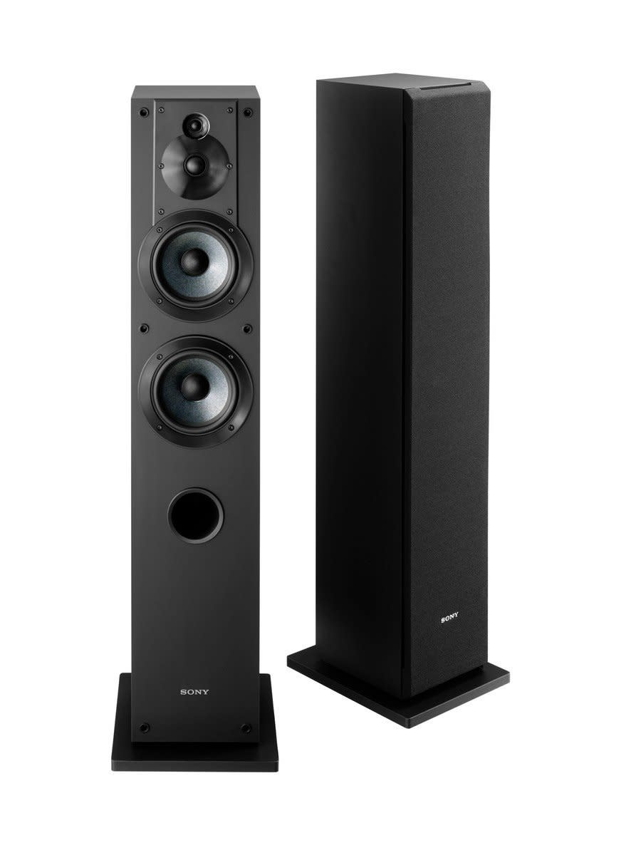The Sony SSCS3 3-Way Floor-Standing Speaker  will fill a big room with deep bass and accurate treble, and all for a very affordable price.