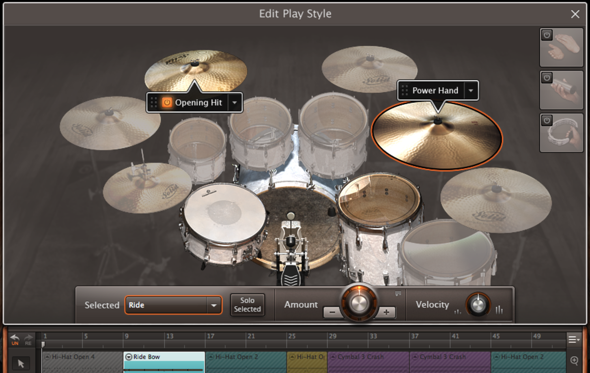EZDrummer 2 offers a simple, yet surprisingly deep way to edit groove