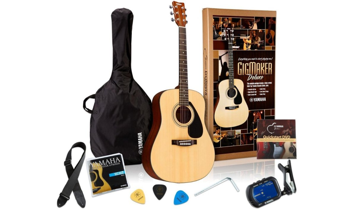 The Yamaha Gigmaker Deluxe Pack comes with everything you need to start playing.