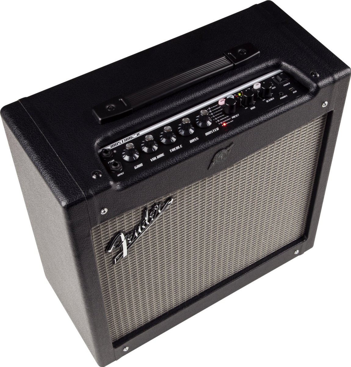 The Fender Mustang II is a great amp for a serious beginner for a low cost.