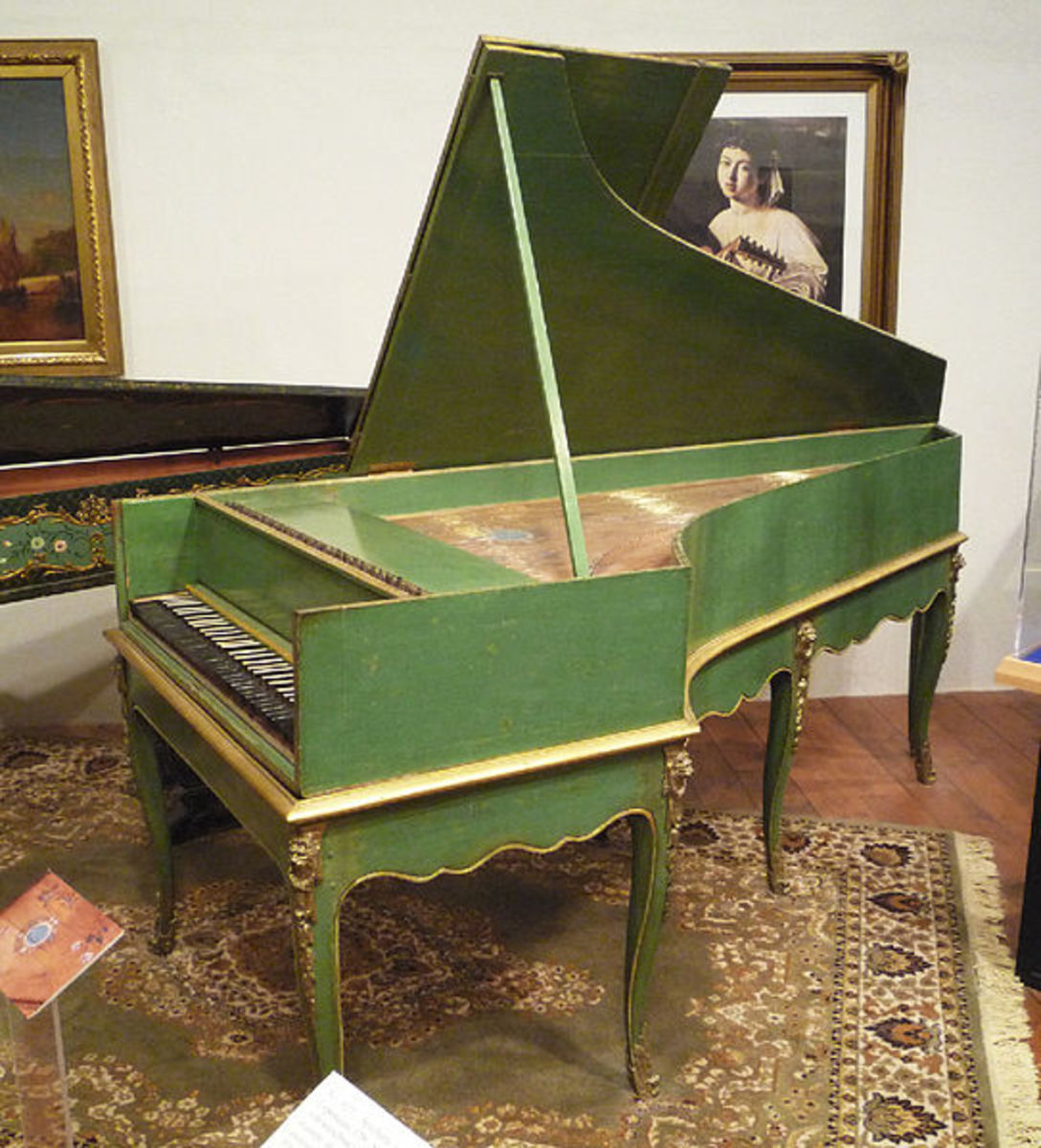A Grand Piano built in 1781 following a design by the inventor of the piano, Bartolomeo Cristofori
