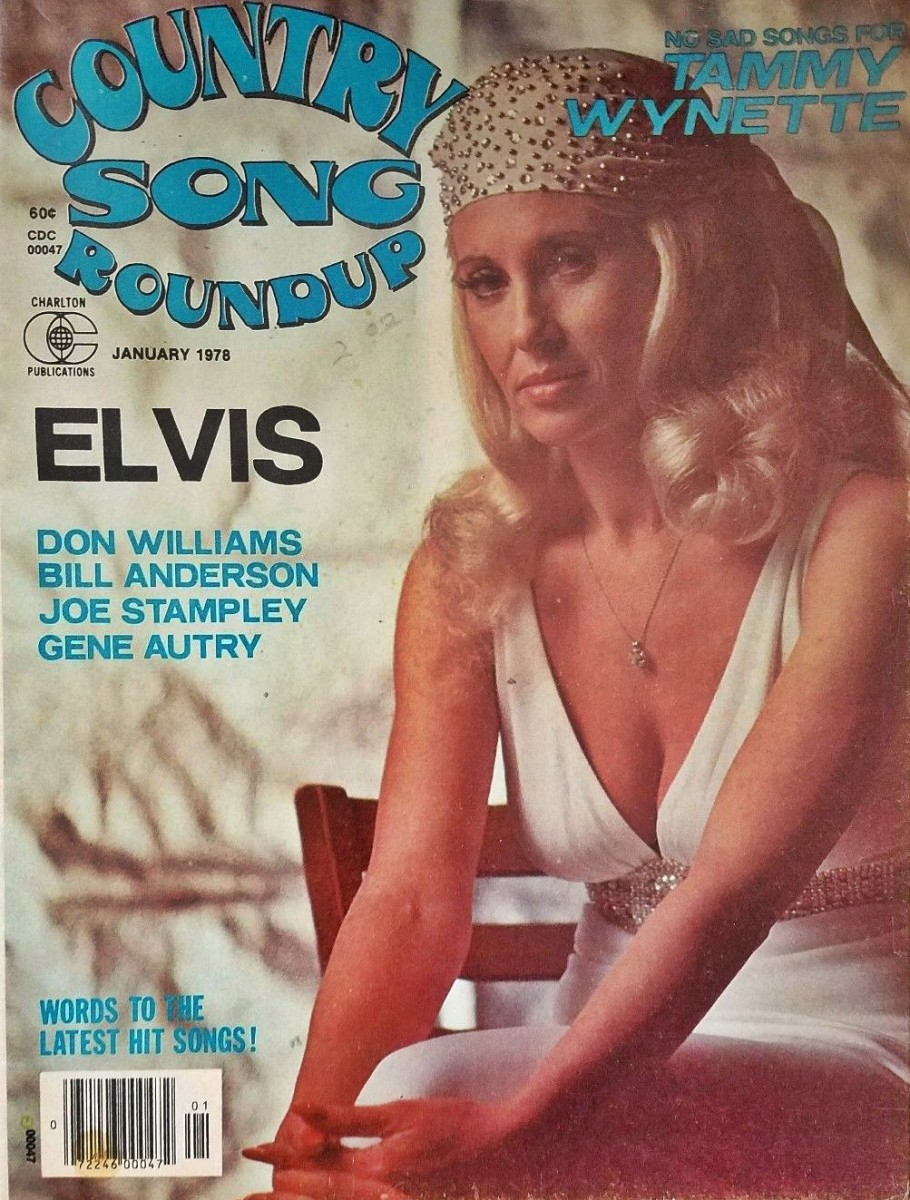 Tammy on the cover of the January 1978 issue of Country Song Roundup.