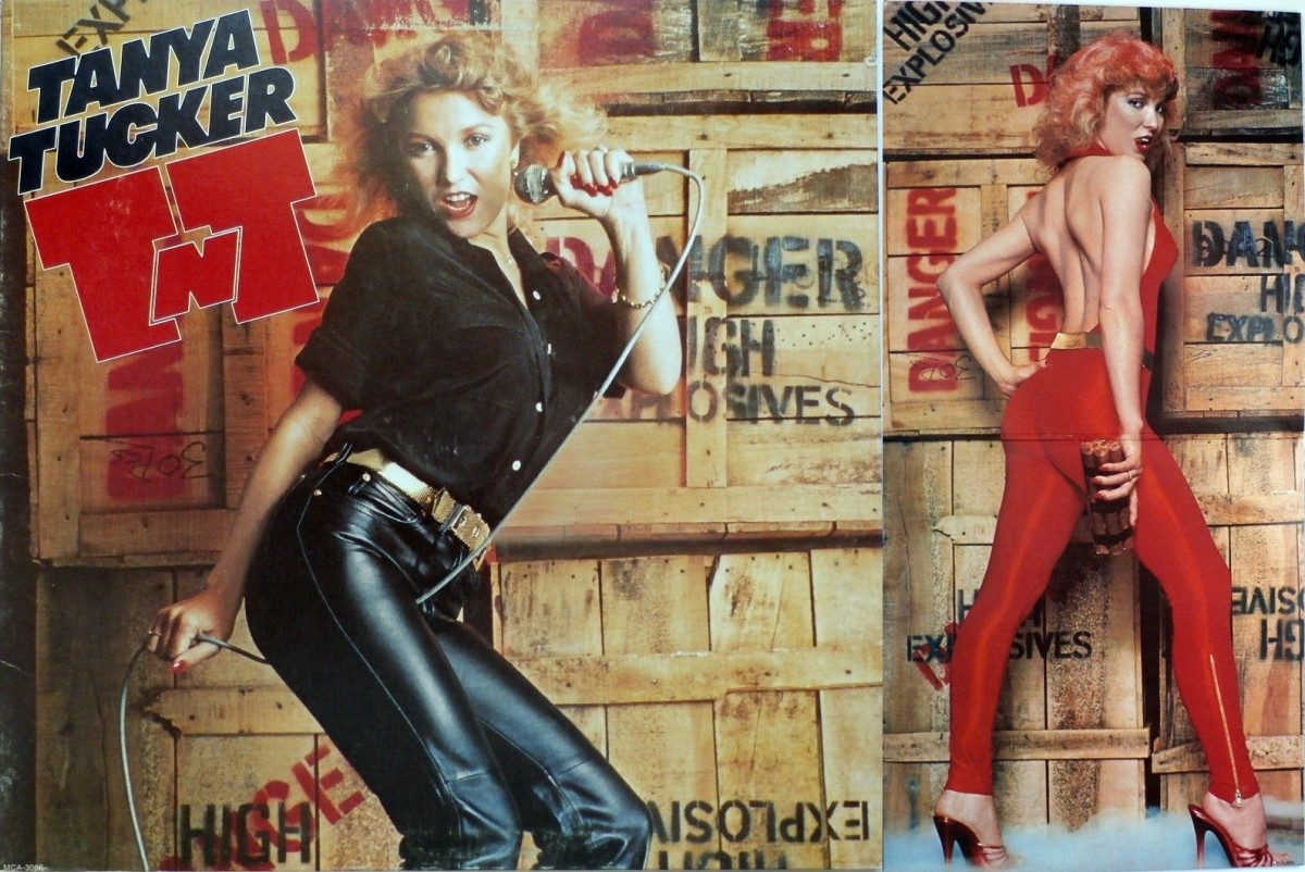 The front cover and inside photo of Tanya from her TNT album.