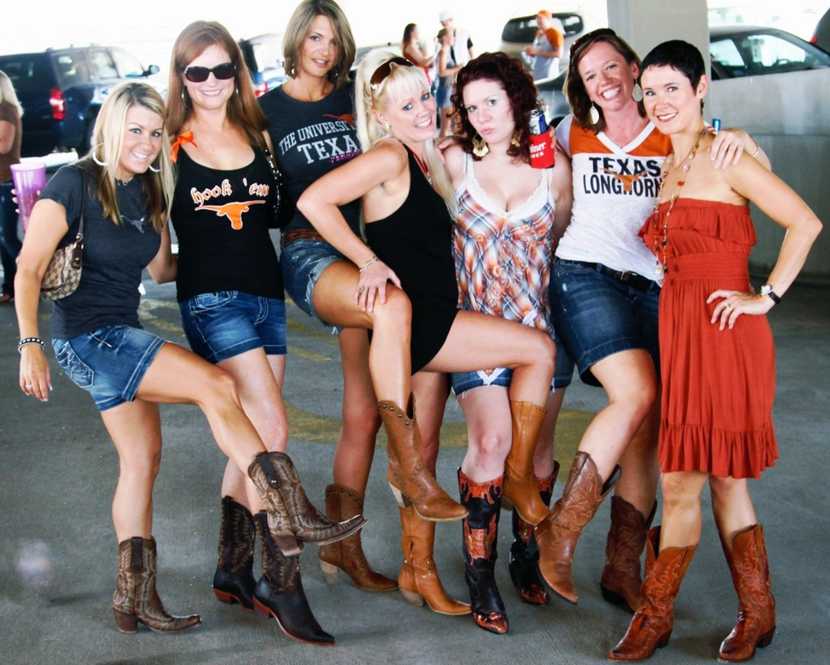 Cowgirl boot-y contest.