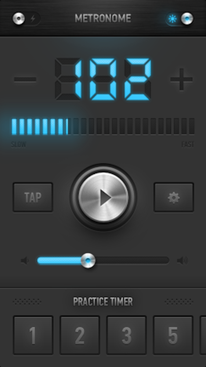 MetroTimer is one of many great metronome apps available for iOS.