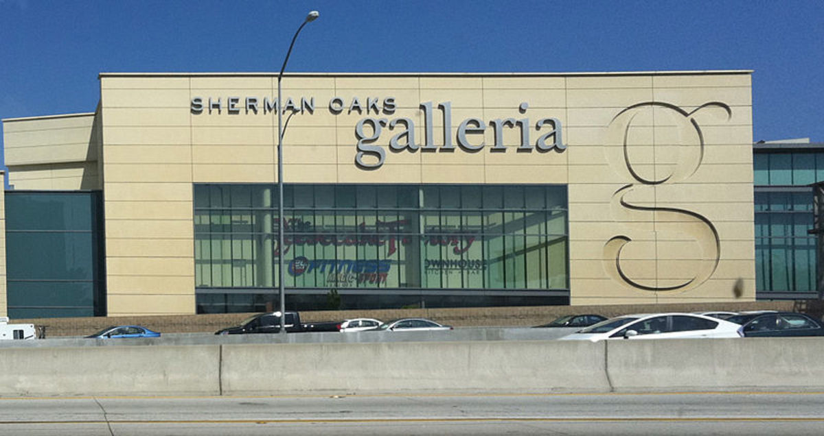 "Sherman Oaks Galleria, mentioned in ""Valley Girl"" lyrics. This is the renovated mall, reopened in 2002."