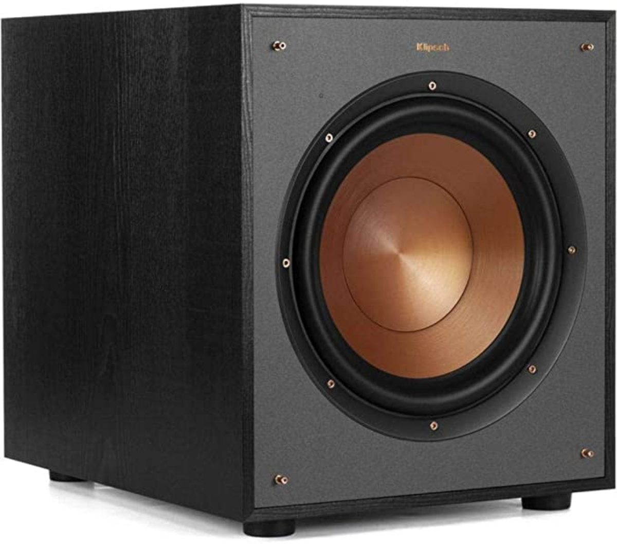 "The Klipsch R-100SW 10"" subwoofer, a great performer that won't hurt your wallet."
