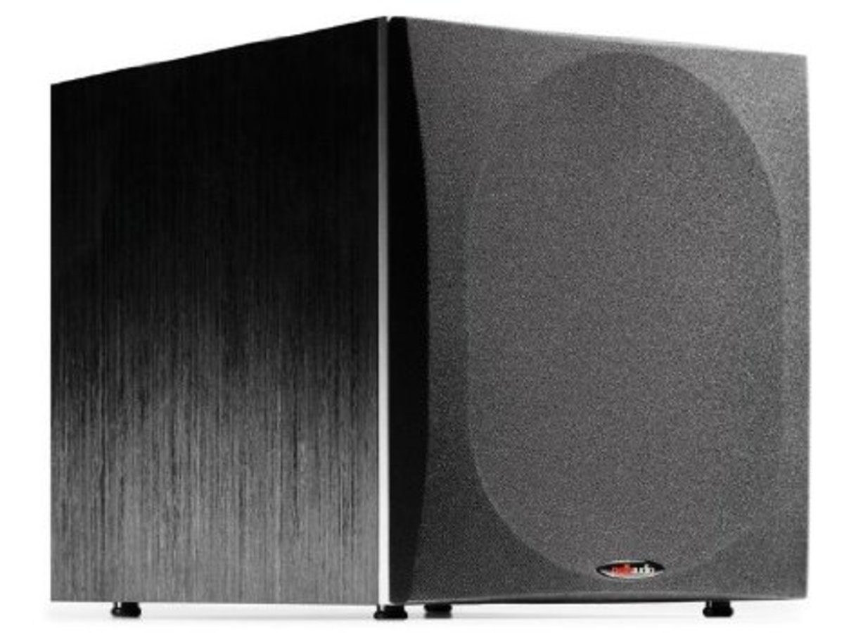 The Polk Audio PSW505 provides bass audio that is tight and precise.  Well constructed with sturdy MDF, the Polk has a real wood veneer finish, which gives it a stylish and attractive appearance.