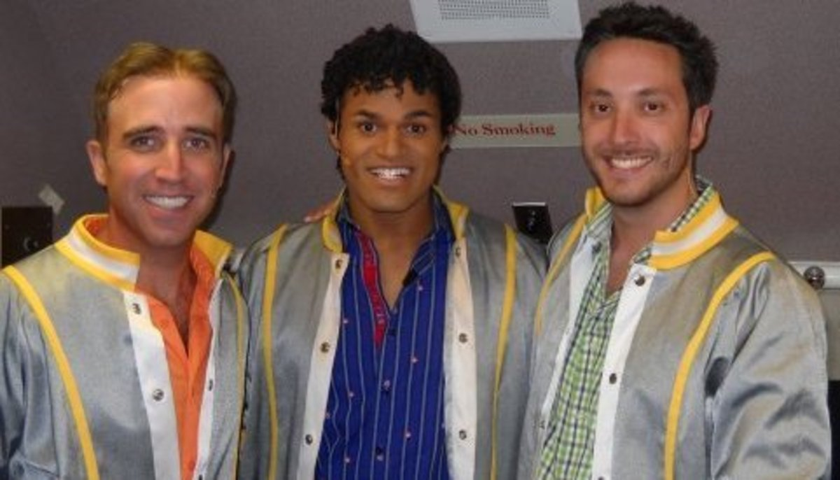 EJay (in middle) has continued to perform since Idol.