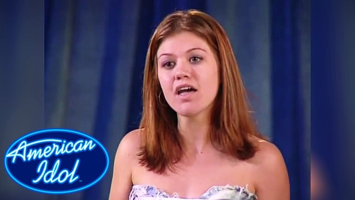 Kelly at her American Idol audition...