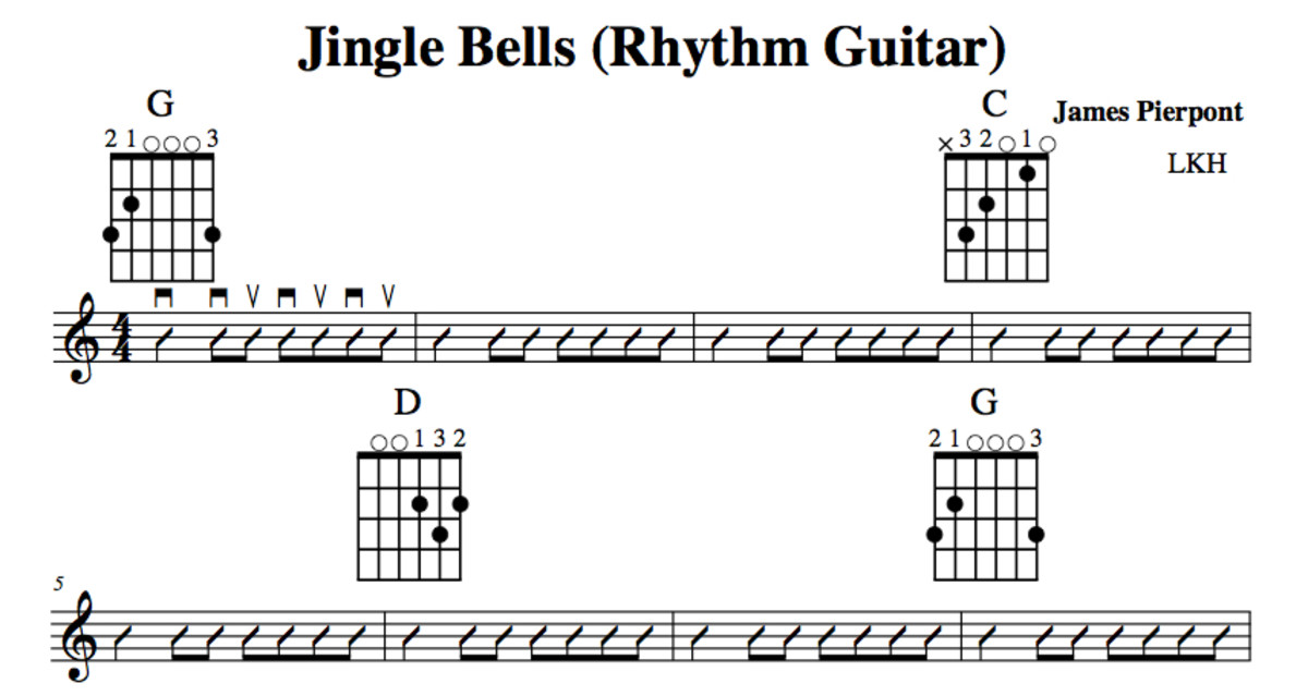Easy Guitar Christmas Songsjingle Bellschords Melody Guitar Duet