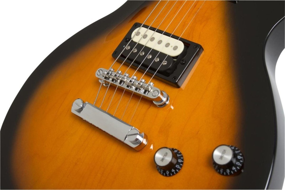 The open-coil humbuckers on the Epiphone Les Paul Studio LT are solid pickups for a guitar in this price range.