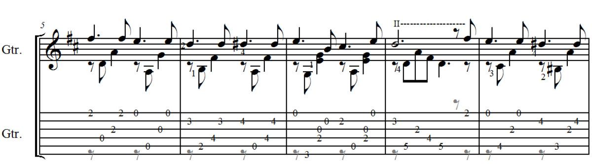 fernando-sor-study-in-d-classical-guitar-arrangement-in-standard-notation-and-guitar-tab