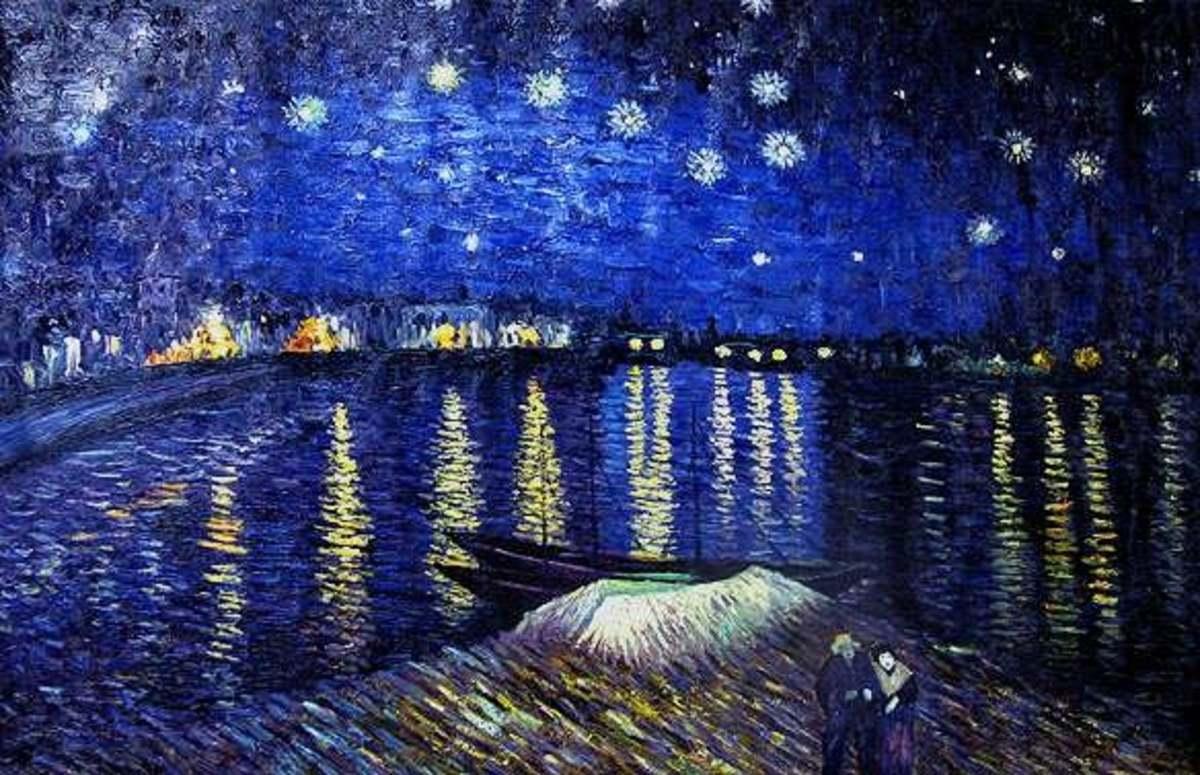 "Van Gogh, ""Starry Night Over the Rhone"""