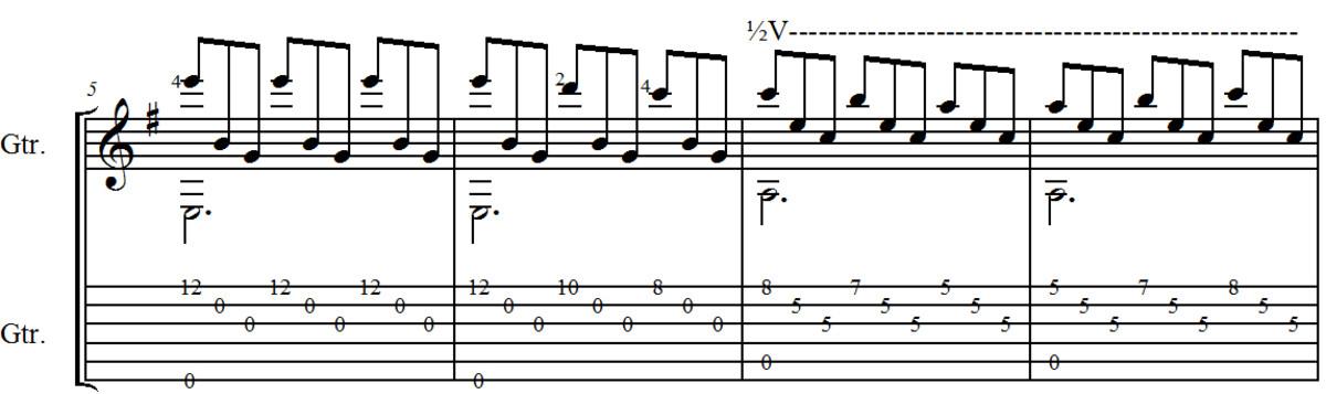 Romance (Romanza): Classical Guitar Arrangement in Guitar Tab and