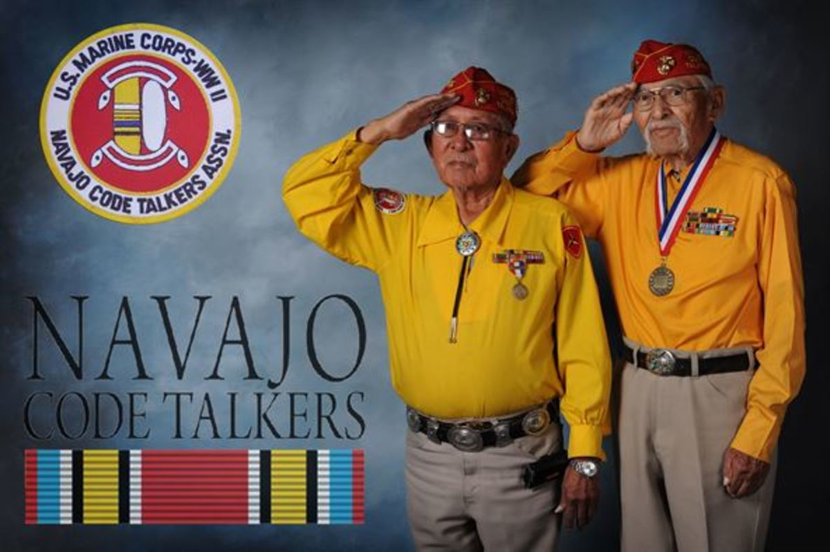 Bill Toledo and Albert Smith served as Navajo code talkers at Cannon Air Force Base in New Mexico.