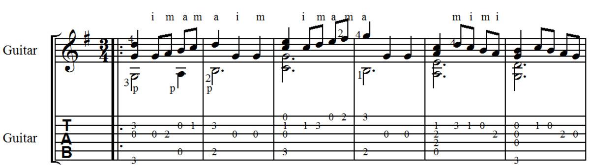 Bach - Minuet in G: Classical Guitar Arrangement in Standard