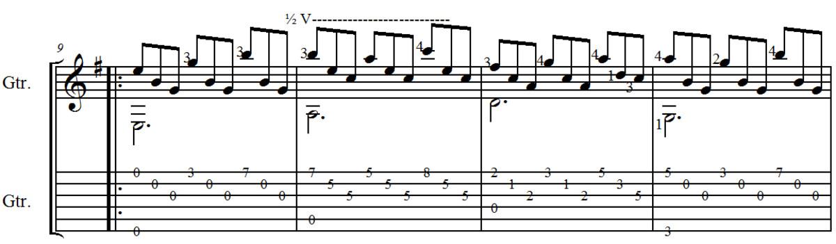 tarrega-study-in-e-minor-easy-classical-guitar-arrangement-in-standard-notation-and-guitar-tab