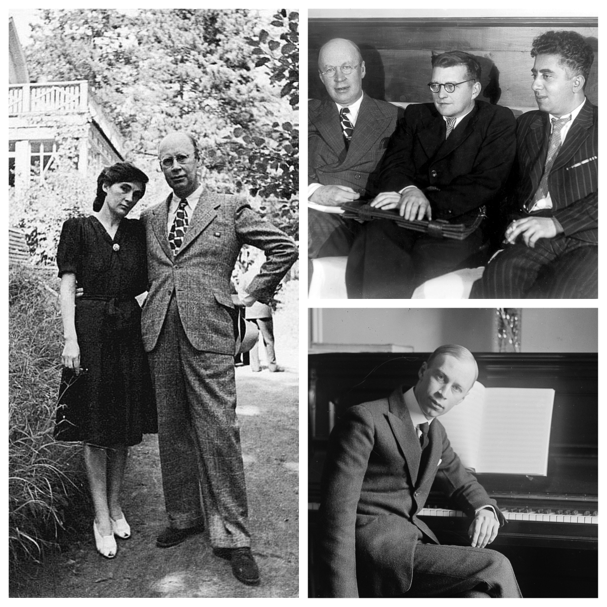 Public domain images of Prokofiev and others from wikimedia.org