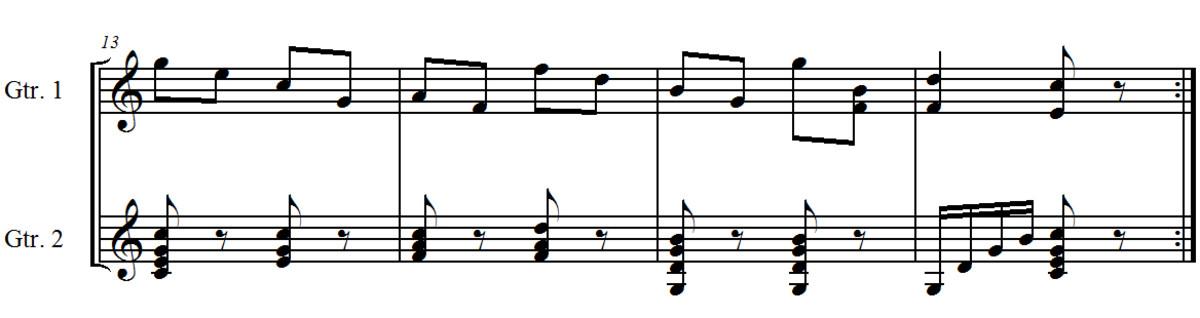 Duet Opus 168 no. 6 by J. Küffner