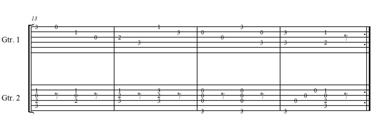 Classical Guitar Duet Opus 168 no.6 by J. Küffner