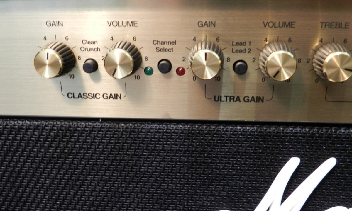 Guitar amps are loud, but at least they have volume knobs!