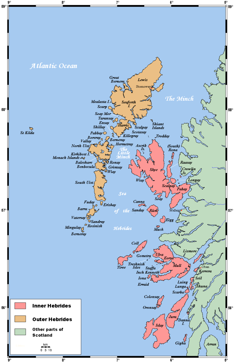 The Outer and Inner Hebrides