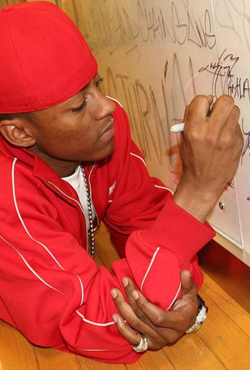 Cassidy writes raps when he isn't stockpiling weapons