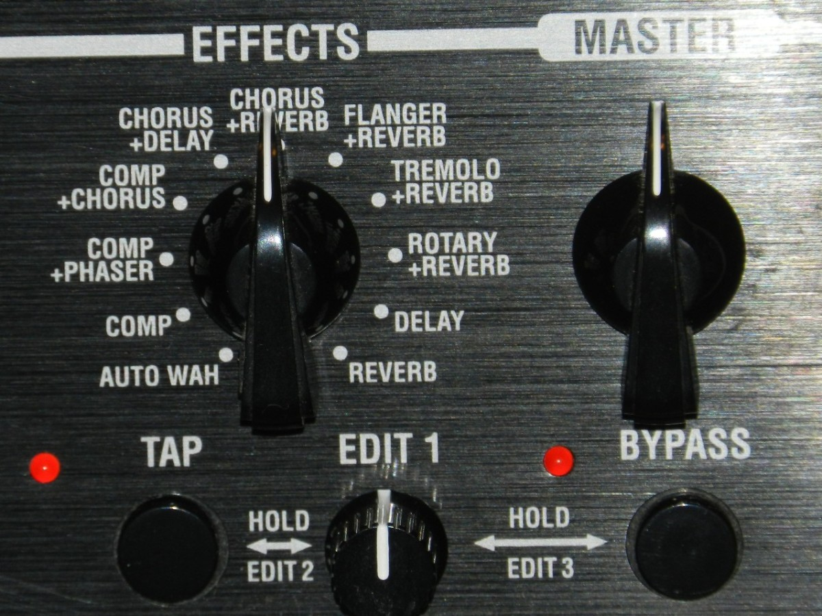 Effects section from Vox Valvetronix Amp