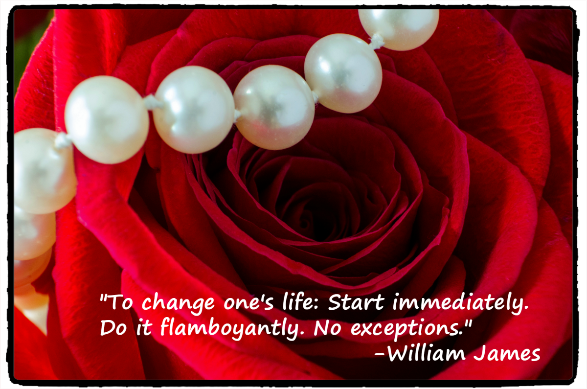 ":To change ones life: Start immediately. Do it flamboyantly. No exceptions."" - William James, Father of American psychology"