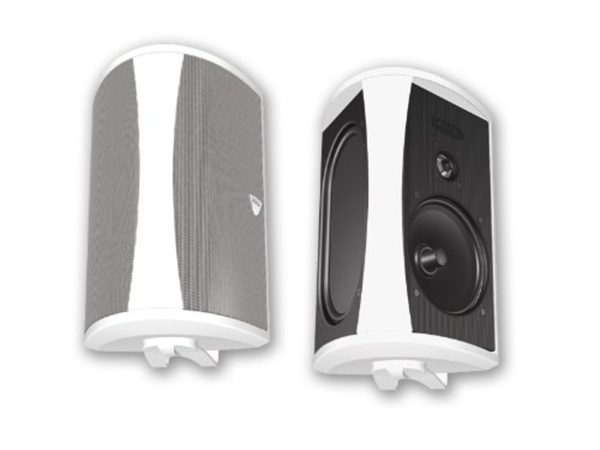 With an impressive sound quality and the ability to withstand whatever Mother Nature throws at them, these Definitive Technology AW 6500 loudspeakers will liven up any party, back yard, patio, or pool space.  Easy to mount and versatile.