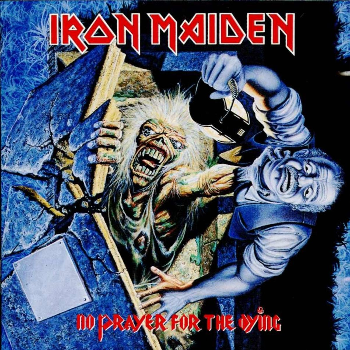 "Iron Maiden ""No Prayer for the Dying"" Rpic Records E 46905 12"" LP Vinyl Record (1990)  Album Cover Art by Derek Riggs"
