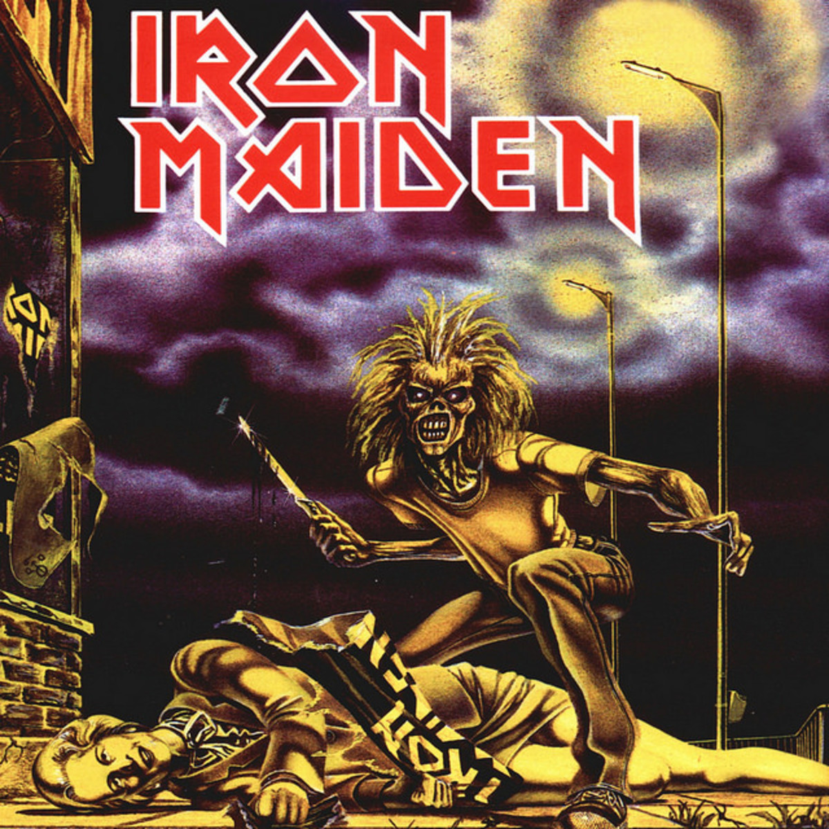 "Iron Maiden ""Sanctuary"" EMI 5065 Uncensored 7"" Vinyl Single UK Pressing (1980) Picture Sleeve Art by Derek Riggs"