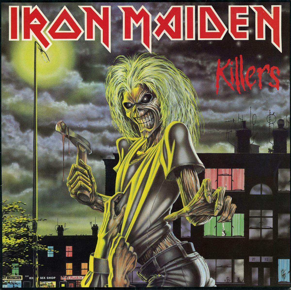 "Iron Maiden ""Killers"" Capitol Records ST-12141  12"" LP Vinyl Record U.S. Pressing (1981) Album Cover Art by Derek Riggs"