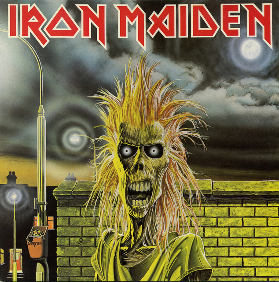 "Iron Maiden ""Iron Maiden"" Capitol Records C1-91415 12"" LP Vinyl Record  U.S. Pressing (1980)  Album Cover Art by Derek Riggs"
