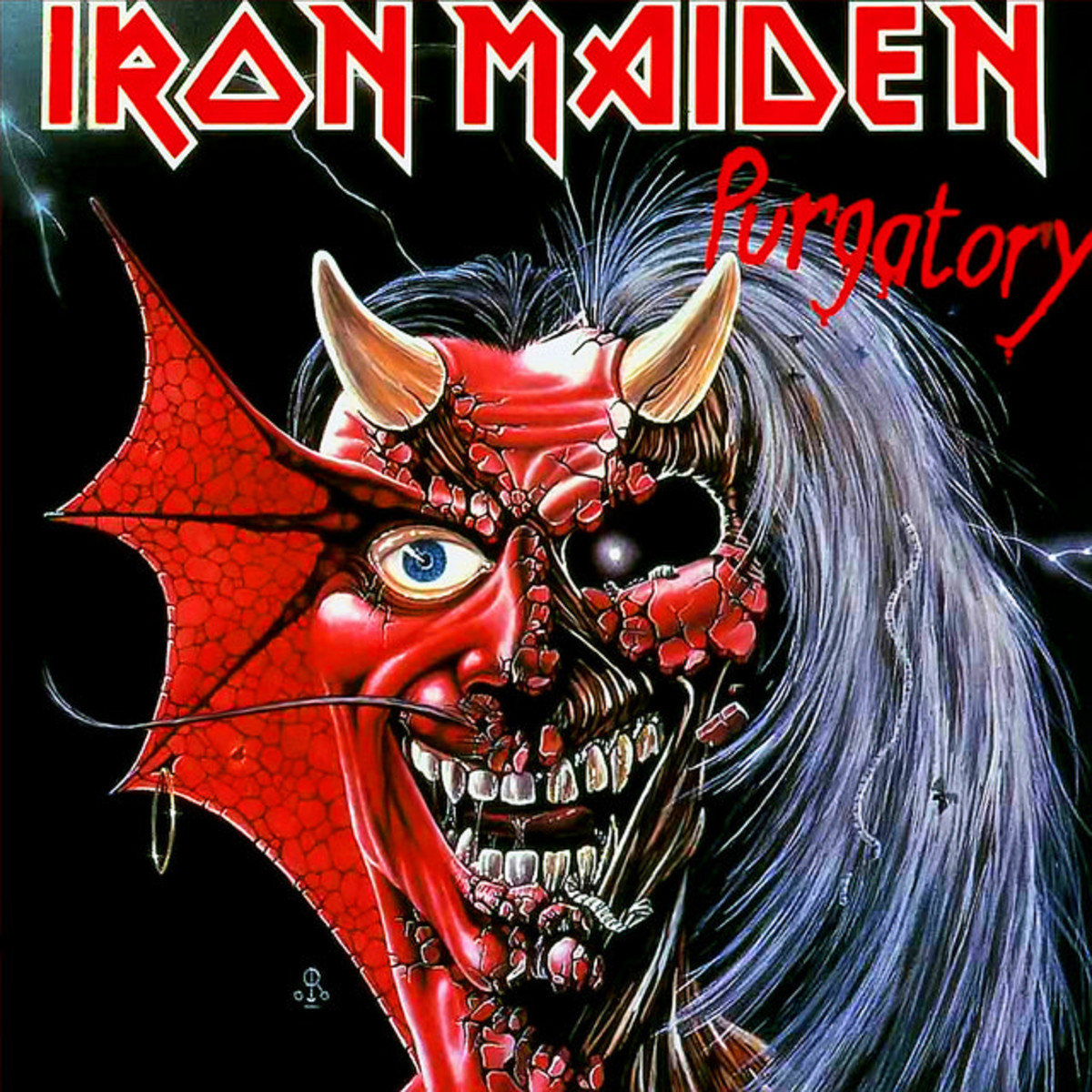 "Iron Maiden ""Purgatory""  EMI 5184 7"" Vinyl Single UK Pressing (1981)  Picture Sleeve Art by Derek Riggs"