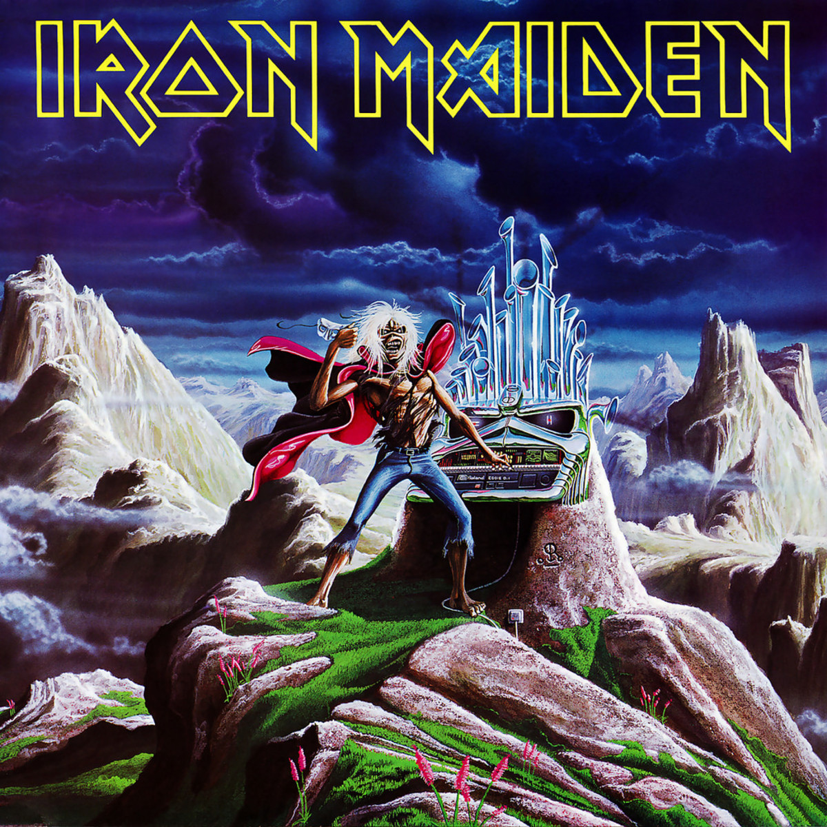 "Iron Maiden ""Run To The Hills"" Live EMI 12 EMIP 5542 12"" Vinyl Single UK Pressing (1985) Picture Sleeve Art by Derek Riggs"