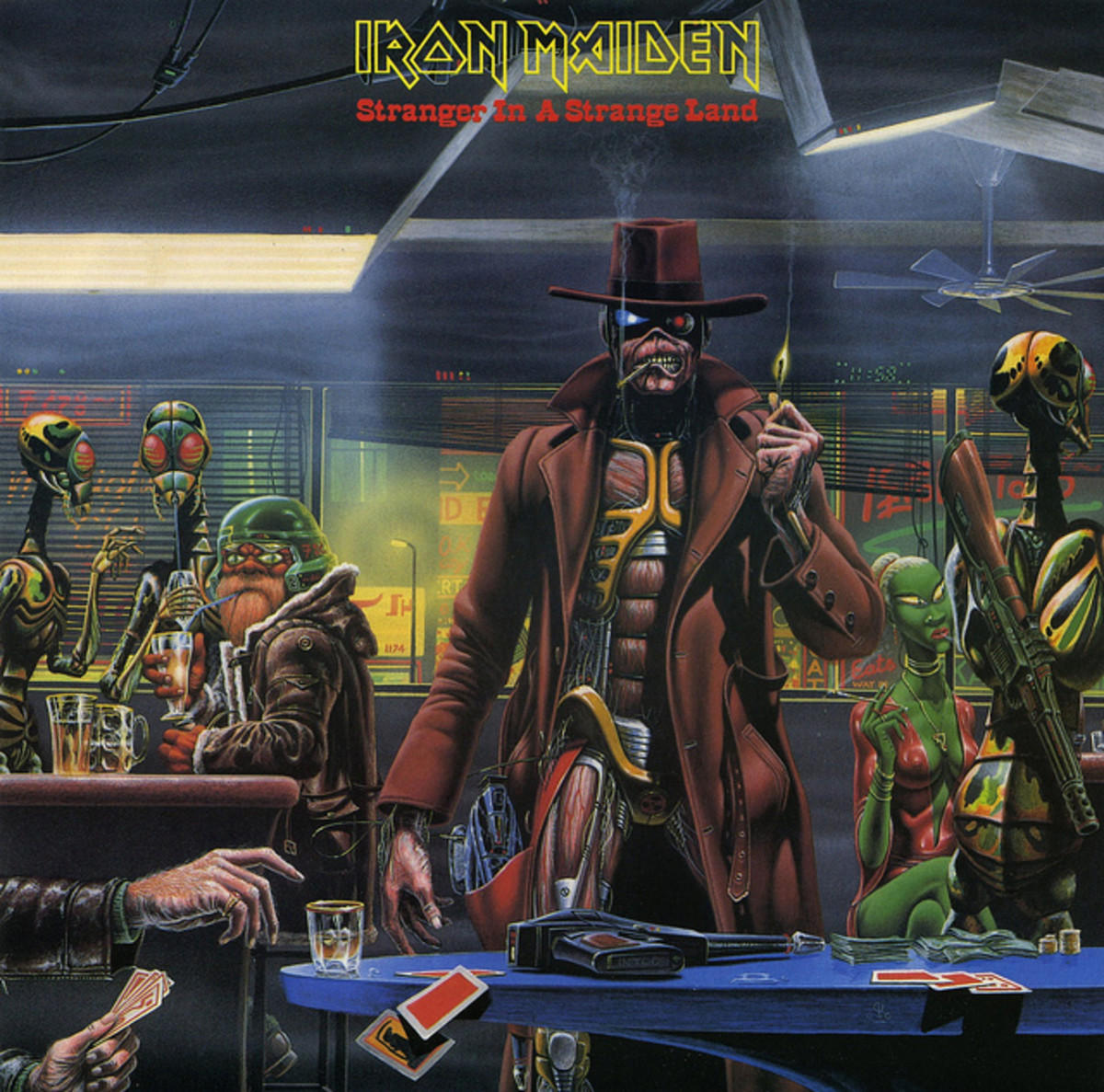 "Iron Maiden ""Stranger In A Strange Land""  EMI 12EMI 5589 12"" Vinyl Single UK Pressing (1986) Cover Art by Derek Riggs"