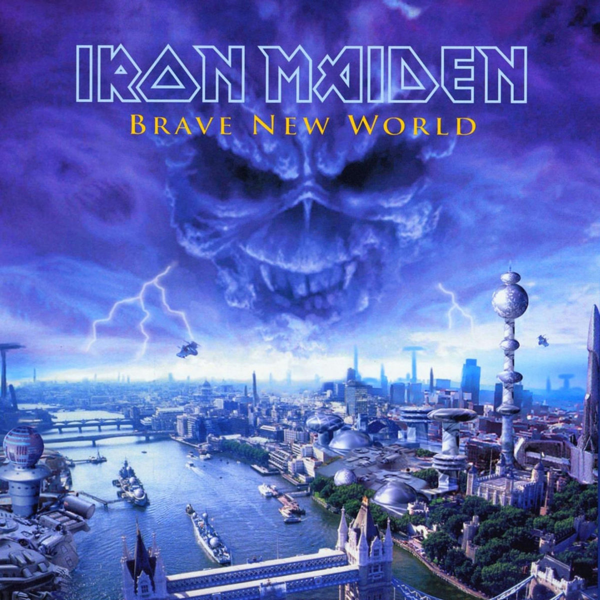 "Iron Maiden ""Brave New World"" EMI 7243 5 26605 1 3 12"" LP Vinyl Record (2000) Album Cover Art by Derek Riggs"