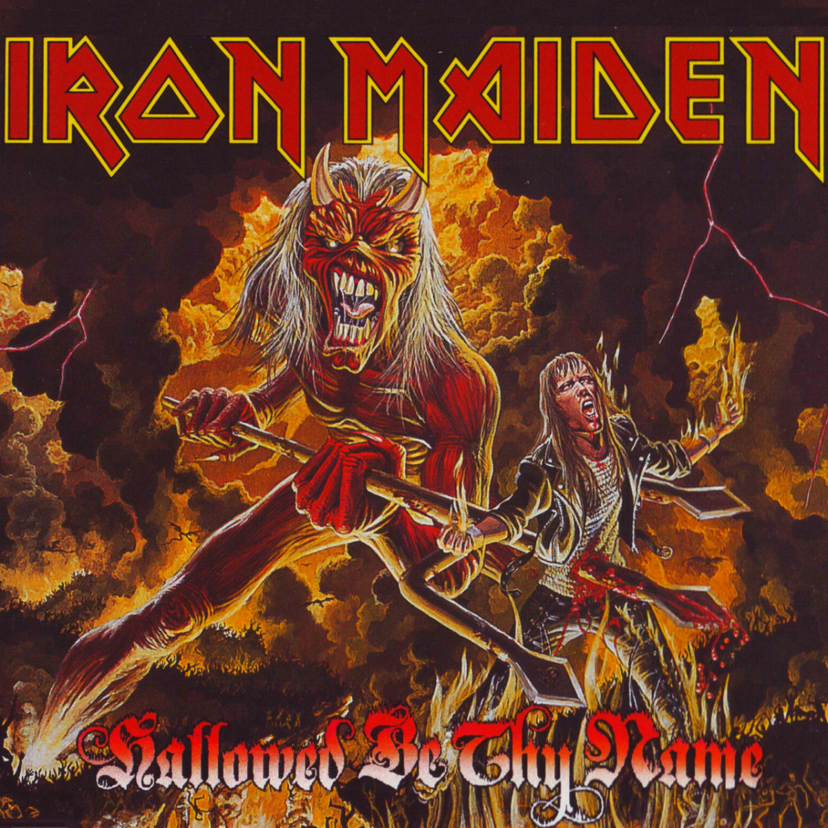 "Iron Maiden ""Hallowed Be Thy Name"" Live EMI EMP 288 7"" Vinyl Single UK Pressing (1993)"