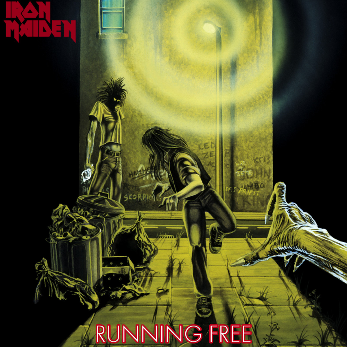"Iron Maiden ""Running Free"" EMI 5032 7"" Vinyl Single UK Pressing (1980) Picture Sleeve Art by Derek Riggs"