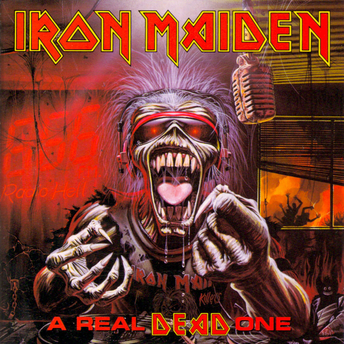 "Iron Maiden ""A Real Dead One"" EMI United Kingdom 0777 7 89248 1-4  12"" Vinyl Record  (1993) Album Cover Art by Derek Riggs"