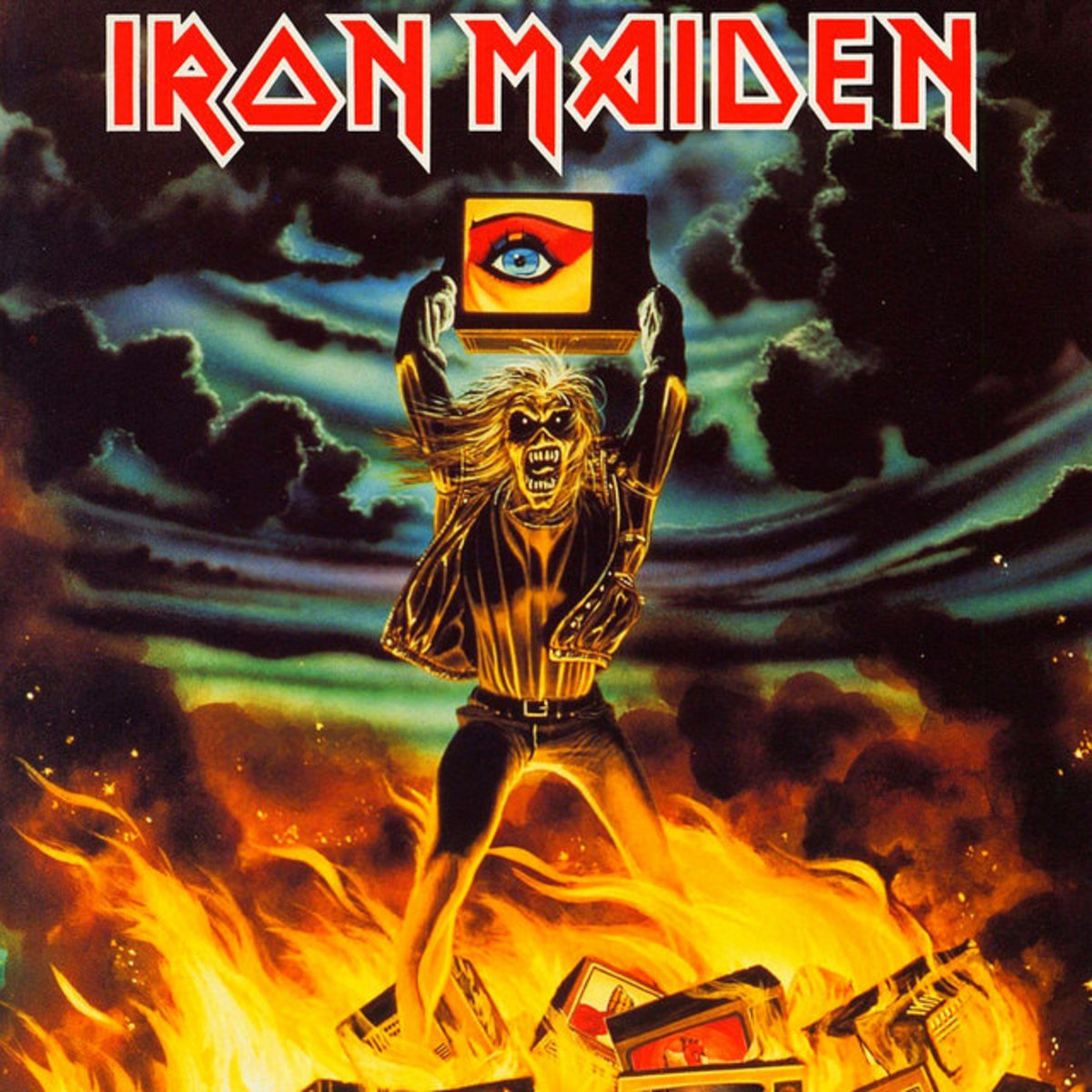 "Iron Maiden ""Holy Smoke"" EMI 12EMP 153 12"" Vinyl Single UK Pressing (1990) Cover Art by Derek Riggs"