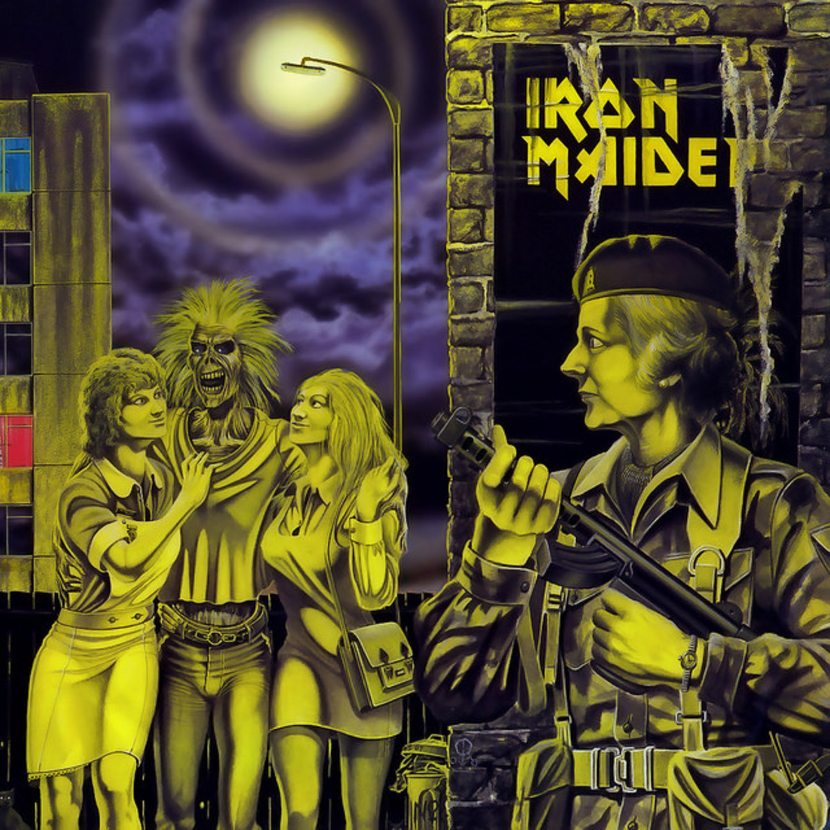 "Iron Maiden ""Woman In Uniforms"" EMI 12EMI 5105 12"" Vinyl Record Single (1980) Picture Sleeve Art by Derek Riggs"