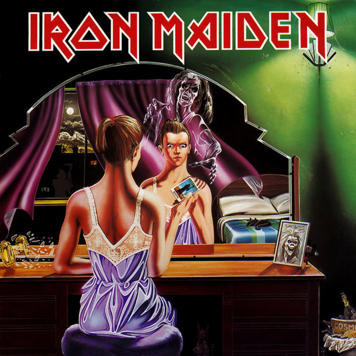 "Iron Maiden ""Twilight Zone"" 1C 052-07 462 12"" Vinyl Single German Pressing (1981) Picture Sleeve Art by Derek Riggs"