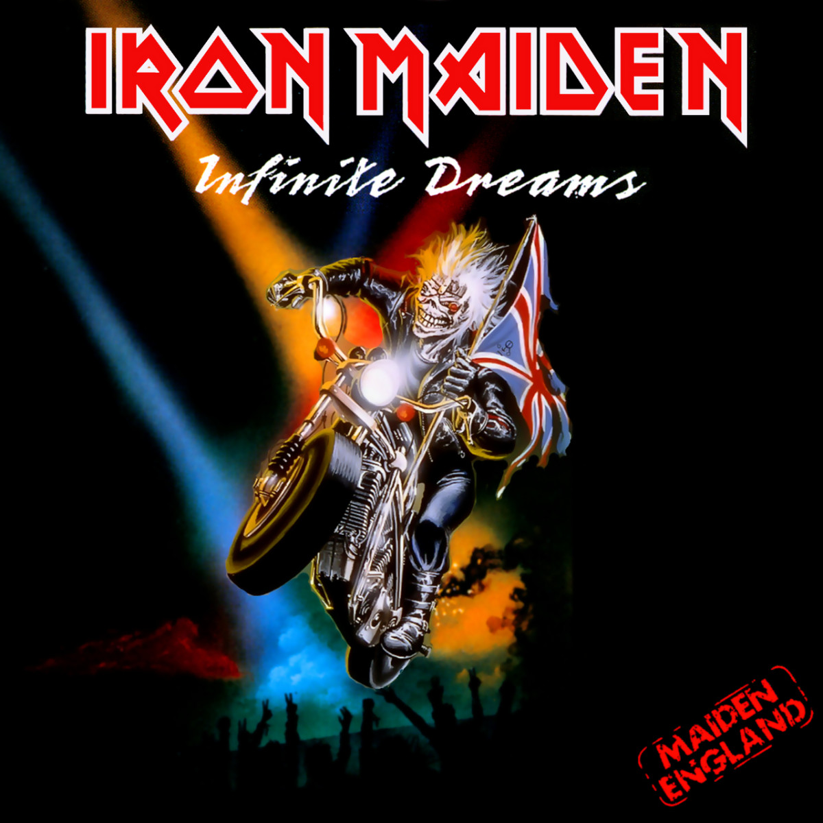 "Iron Maiden ""Infinite Dreams"" EMI 12 EM 117 12"" Maxi Single UK Pressing (1989) Cover Art by Derek Riggs"