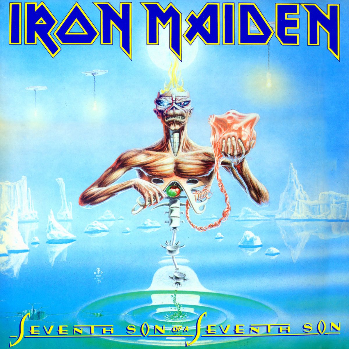 "Iron Maiden ""Seventh Son of a Seventh Son"" Capitol Records C1-90258 12"" Vinyl Record (1988)  Album Cover Art by Derek Riggs"