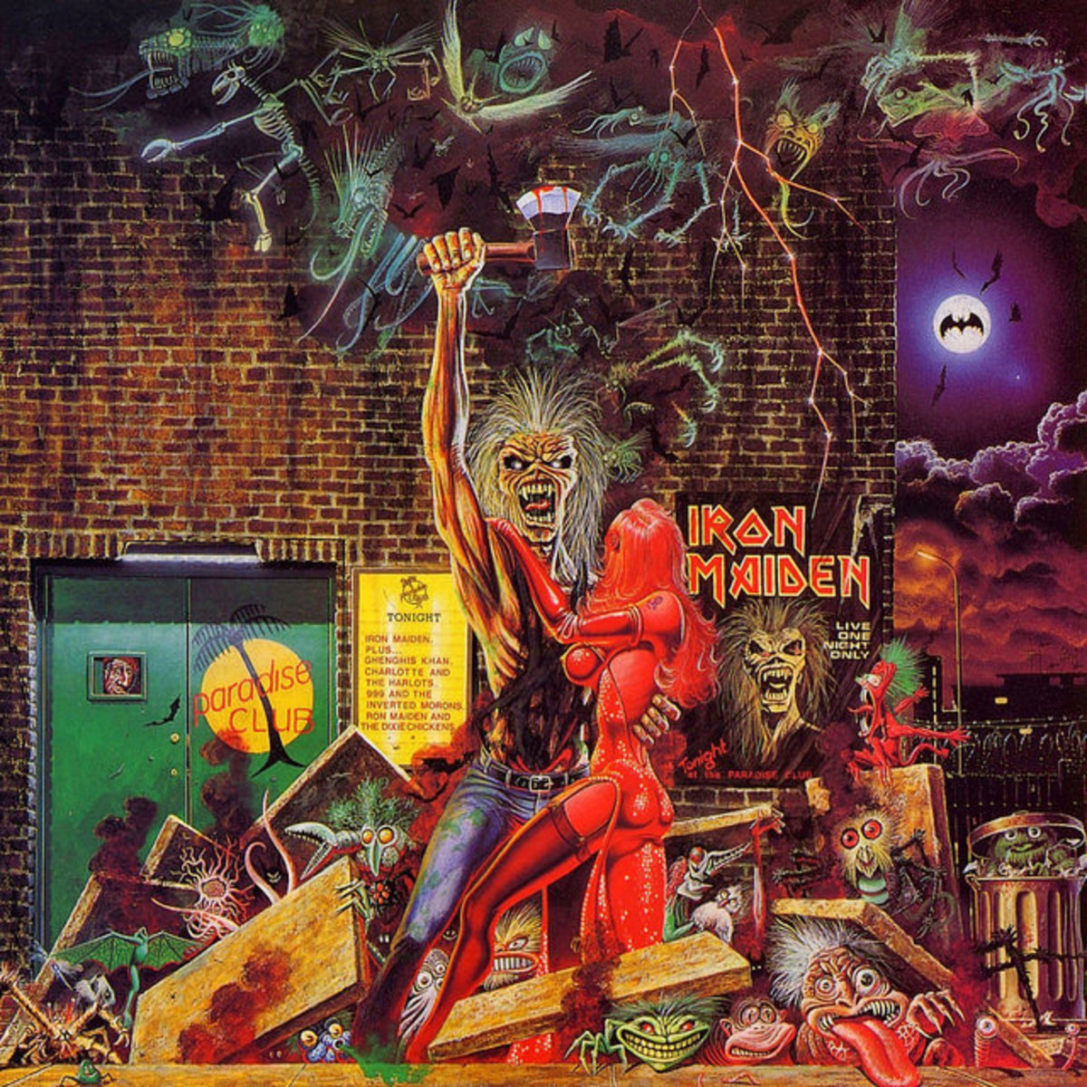 "Iron Maiden ""Bring Your Daughter to the Slaughter"" EMI 12EMP 171 12"" Vinyl Single UK Pressing (1990) Cover Art by Derek Riggs"